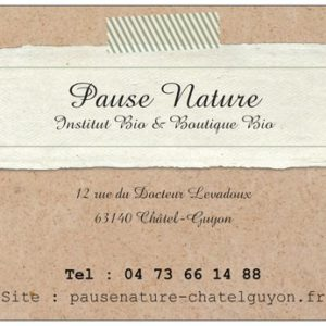 Cheque cadeau Pause Nature
